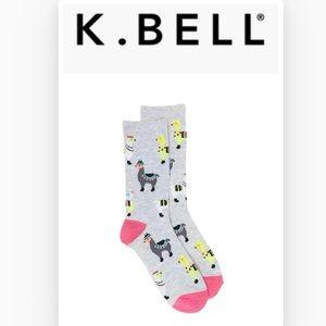 🆕 K. Bell Women's Llamas Crew Socks